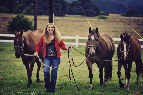 Kellie Poulsen-Grill with her horses
